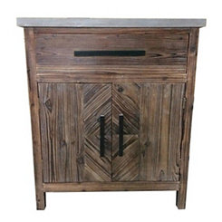 Rustic Brown Jayden 2-Door Cabinet