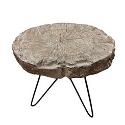 Rustic Brown Accent Table