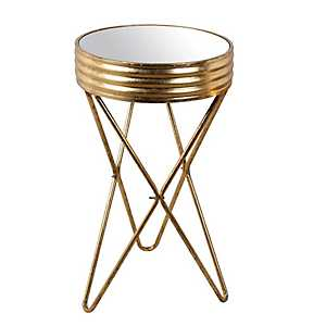 Mirrored Top Gold Accent Table