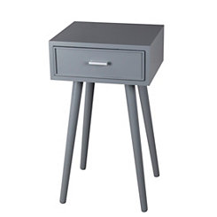 Light Gray Mid-Century Accent Table