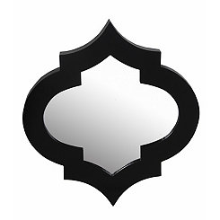 Black Quatrefoil Wall Mirror