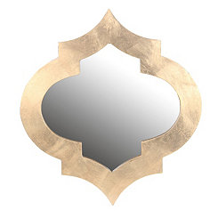 Gold Quatrefoil Wall Mirror
