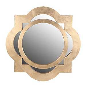Gold Circle Quatrefoil Wall Mirror