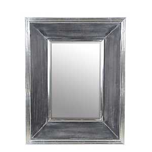 Silver Aluminum Wall Mirror