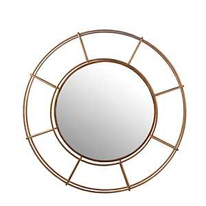 Gold Cutout Round Wall Mirror