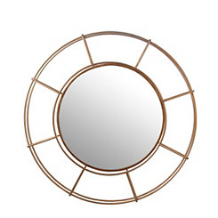 Gold Cutout Round Wall Mirror