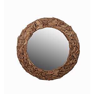 Driftwood Ring Wall Mirror