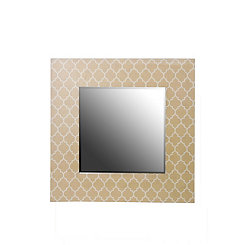 Tan Quatrefoil Wall Mirror