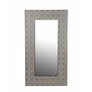 Gray Greek Key Wall Mirror
