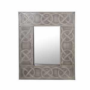Beveled Gray Link Wall Mirror