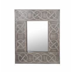 Beveled Gray Link Wall Mirror