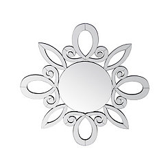 Beveled Flower Leaf Wall Mirror