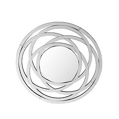 Layered Elliptical Wall Mirror