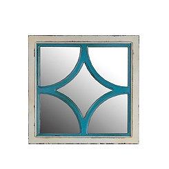 Antique Blue and White Diamond Wall Mirror