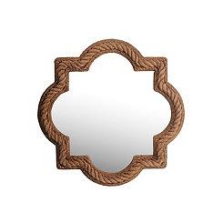 Quatrefoil Rope Beveled Wall Mirror
