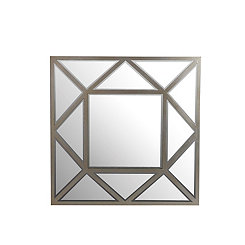 Silver Triangles Decorative Wall Mirror