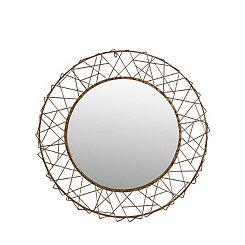 Iron Criss Cross Decorative Wall Mirror