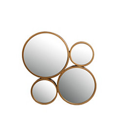 Golden Iron Circles Mirror
