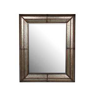 Hammered Angles Metal Mirror