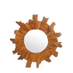 Natural Wooden Burst Mirror