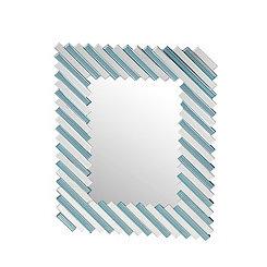 Blue and White Stripes Mirror