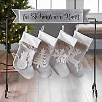 Galvanized Stockings Were Hung Stocking Holder