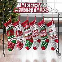 Merry Christmas Glitter Stocking Holder