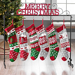 Merry Christmas Glitter Stocking Holder