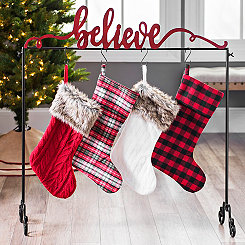 Rustic Believe Stocking Holder