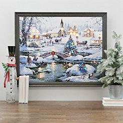 Icy Lights LED Framed Art Print