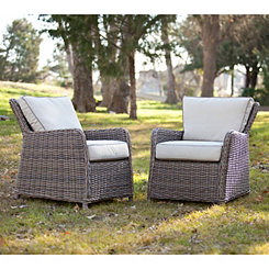 Cynthia Wicker Chairs, Set of 2