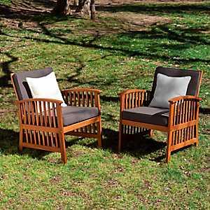 Tiergarten Outdoor Armchairs, Set of 2