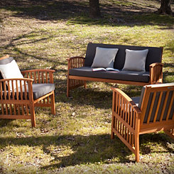 Tiergarten Outdoor Sofa and Chairs, Set of 3