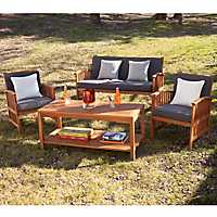 Tiergarten Sofa, Table, and Chairs, Set of 4