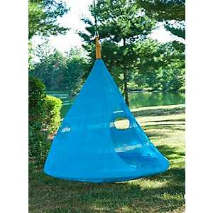 Blue Teardrop Hanging Chair