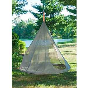 Bark Gray Teardrop Hanging Chair