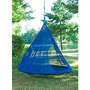 Dark Blue Teardrop Hanging Chair