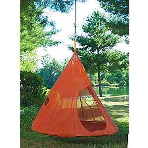 Orange Teardrop Hanging Chair