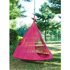 Red Teardrop Hanging Chair