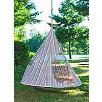 Striped Teardrop Hanging Chair