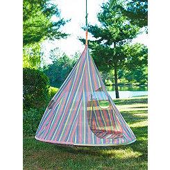 Striped Teardrop Hanging Chair