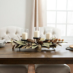 Magnolia and Walnut Centerpiece