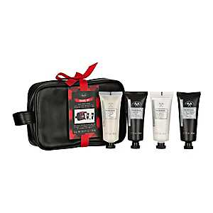 Men's Essential Black and Red Travel Dopp Kit