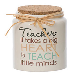 Ceramic Teacher Blessing Jar with Cork Lid