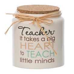 Ceramic Teacher Blessing Jar with Cork Lid