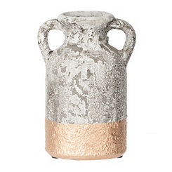 Gold Dipped Concrete Jug Vase