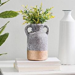 Gold Dipped Concrete Jug Vase