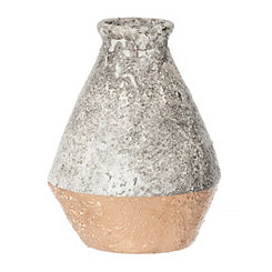 Gold Dipped Concrete Vase