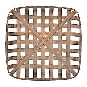 Wooden Tobacco Basket, 20 in.