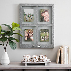 Galvanized Metal Windowpane Collage Frame